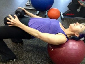 stability ball hip thrusts